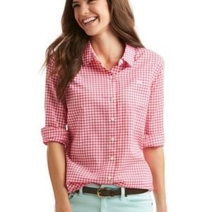 Vineyard Vines Gingham Relaxed Button Down Size 2